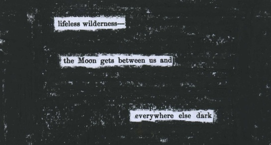 "A page of Sir Norman Lockyer's 1870 ""Elements of Astronomy"" redacted into a haiku."