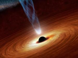 Artist's conception of a supermassive black hole.  Image credit: NASA/JPL-Caltech