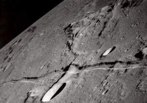 A lunar rille captured by Apollo 10.  Image credit: NASA (with thanks to APOD for posting on Oct. 29, 2002)
