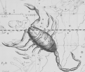 John Flamsteed's Scorpius from Atlas Coelestis (1753).  (Thanks to the Chandra X-Ray Observatory for posting image online.)