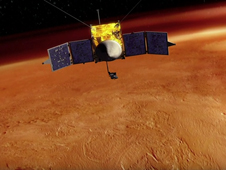 3 haikus will launch on Mars MAVEN in 2013.  (An artist's conception of the MAVEN spacecraft orbiting Mars. Credit: NASA/Goddard Space Flight Center)