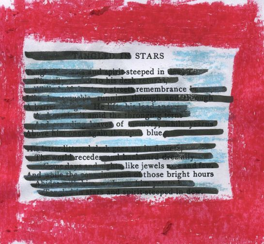 """A. Ethelwyn Wetherald's 1902 poem """"Tangled in Stars"""" redacted into a new poem."""