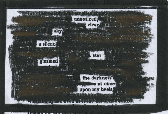 """A Wordsworth poem printed in Sherwood, Gilbert and Piper's """"Time's Telescope"""" (1824) redacted into a poem."""