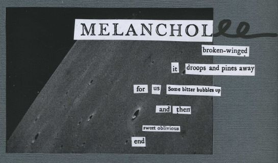 "Background image is last picture taken by LADEE.  (Image credit: NASA.)  Cut text for poem borrowed from Robert Burton's ""Melancholy"" (1801)."