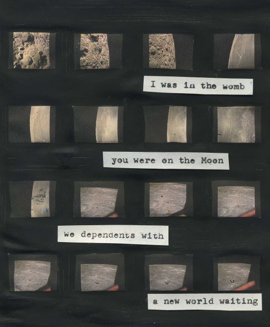 Poem typed onto an Apollo 11 image gallery.  (Photos credit: NASA)